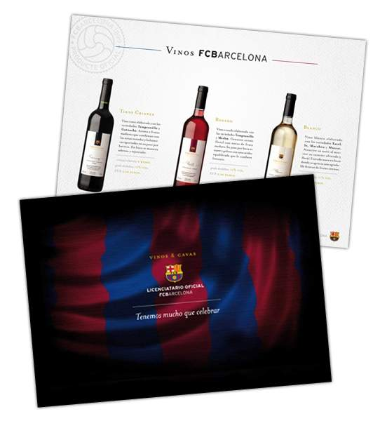 FCBARCELONA - FOLLETO VINOS